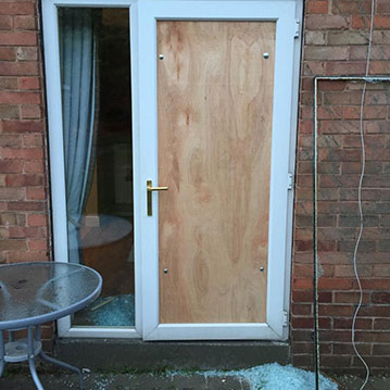 boarding up doors Chesterfield
