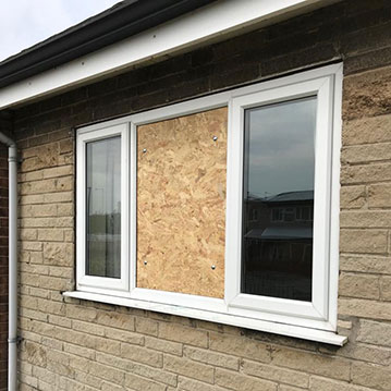 boarding up windows Chesterfield